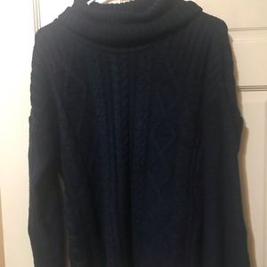 Atmosphere Navy Blue Cowl Neck Sweater